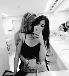 Designer Clothes, Shoes & Bags for Women Lesbian Love, Cute Lesbian Couples, Cute Couples Goals, Couples Lesbiens Mignons, Girlfriend Goals, Gay Aesthetic, Girl Couple, Cute Relationships, Girls In Love