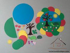 renkli kağıtlardan mevsim etkinliği Animal Crafts For Kids, Toddler Crafts, Preschool Crafts, Art For Kids, Summer Crafts, Diy And Crafts, Arts And Crafts, Origami, March Themes