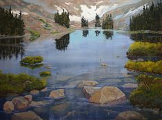 Lake Helene (pastel) by Heather Coen, from Pastel Journal. Read about painting the mountain landscape in pastel. ~ch
