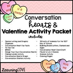 Conversation Hearts, Valentineu0027s Day And Kindness Activity Packet And  Centers