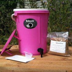 Pink Bokashi Compost bin from Original Organics