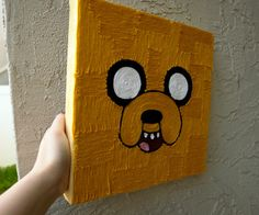 Jake the Dog from Adventure time Yarn wall Art (my brother would love me for this)