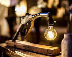 GAS PUMP STEAM PUNK LAMP www.makerschicago.com