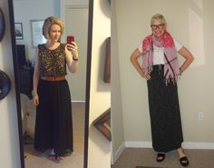 What We Wore: Black Maxi Skirts - Two Take on Style