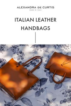 Are you looking for a designer leather handbag? Click through to check out these bags, handmade in Italy with smooth