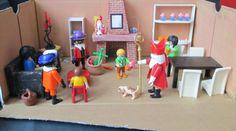Sinterklaas 02 op bezoek  verteltafel Nutsschool Maastricht. Gemaakt met playmobil.
