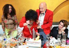 Marco Eugenio Di Giandomenico, Cecilia Gayle, Marina Castelnuovo e Marcella Caradonna durante il gala dinner a Milano in memoria di Elizabeth Taylor il 23 marzo 2016