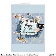 Happy One Year Anniversary Card