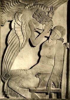 The annunciation ( 1913 ), Ivan Mestrovic Rodin, Ivan Mestrovic, Antoine Bourdelle, Ceramic Sculpture Figurative, Cemetery Art, Mystique, Sacred Art, Christian Art, Religious Art