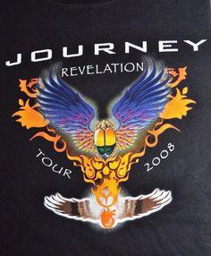 Journey Revelation Concert Tour 2008 Souvenir Black T Shirt M Rock Classic Rock #anvil #TourShirt