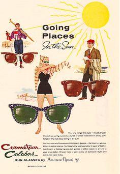 Cosmetan Calobar sunglasses, 1950s