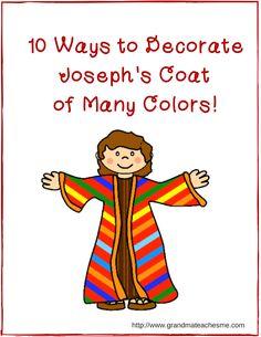 Joseph's Coat of Many Colors Craft Ideas
