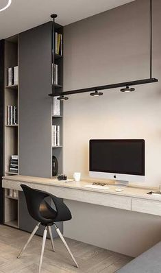 Home Office Setup, Home Office Space, Office Interior Design, Office Interiors, Design Interiors, Modern Interiors, Exterior Design, Modern Home Offices, Study Room Design