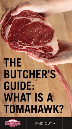 The tomahawk steak, also known as a bone-in ribeye or tomahawk chop, is a well marbled, rich and buttery big, thick ribeye with a long bone still attached. Here's the butcher's guide to this steak lover's favorite cut. Beef Rib Steak, Bbq Steak, Meat Steak, Beef Ribs, How To Grill Steak, Bone In Ribeye, Ribeye Roast, Slow Roast, Tomahawk Steak Recipe