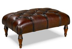 SARREID  Langley Tufted Ottoman
