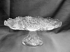 McKee Brothers IHC Cake Stand 1894 Eapg Imitation Heavy Cut Pedestal Plate