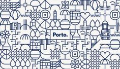 Projecto alemão acusado de copiar imagem do Porto - PÚBLICO City Branding, Portugal Logo, Identity Design, Logo Design, Brand Identity, Porto City, Corporate Id, Travel Illustration, Print Advertising
