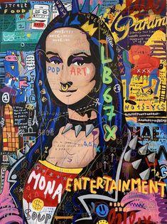 Jisbar, Mona Lisa punk Streets Art will be the most popular way of craft that Arte Punk, Punk Art, Kunst Inspo, Art Inspo, Mona Lisa Drawing, Tableau Pop Art, Pop Art Drawing, Mona Lisa Parody, Pop Art Wallpaper