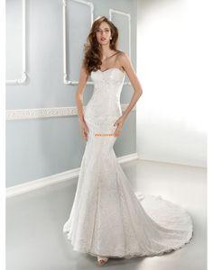 Hof-Schleppe Herz-Ausschnitt 3/4 Arm Brautkleider 2014