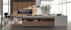 Modello Quadra by Gruppo Cucine Modern Kitchen Furniture, Conference Room, Divider, Table, Design, Evo, Home Decor, Contemporary Architecture, Home Decor Accessories