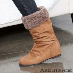 Buy 'ABOUTSHOE – Fleece Lined Hidden Heel Boots ' with Free International Shipping at YesStyle.com. Browse and shop for thousands of Asian fashion items from South Korea and more!