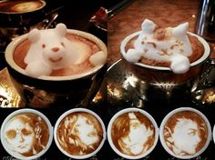 Latte art from japan. The Asians are always outdoing everyone.