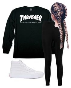 """""""thrasher"""" by madelynoneill on Polyvore featuring Vans and Boohoo"""