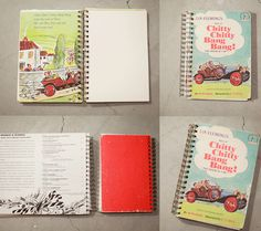 Repurposed old books into notebooks. I want to do these with vintage Little Golden Books
