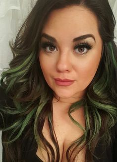 Image Result For Brown Green Hair Green Hair Brown Hair Streaks Hair Highlights