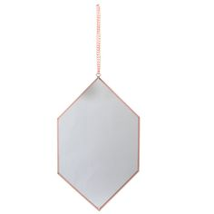 We love the simplicity of this diamond-shaped mirror.The metal chain adds a retro touch, whilst the copper diamond shape is contemporary and on trend. This stunning mirror has a 14cm hanging chain, is available in diamond, rectangle and octagon shapes which would look lovely grouped together. Perfect for any room of house from the bathroom, to the living room and dining room, the simplicity of the design is extremely appealing and very versatile. To clean, please use a soft cloth and glass…