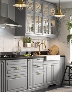 - Home Fashion Trend Kitchen Pantry Design, Modern Kitchen Cabinets, Modern Kitchen Design, Home Decor Kitchen, Interior Design Kitchen, Kitchen Furniture, Home Kitchens, Bodbyn Kitchen Grey, Ikea Interior