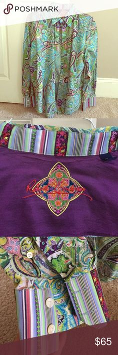 Robert Graham long sleeve shirt Multi colored paisley long sleeve Robert Graham shirt.  Worn a couple of times, in excellent condition! Robert Graham Shirts Dress Shirts