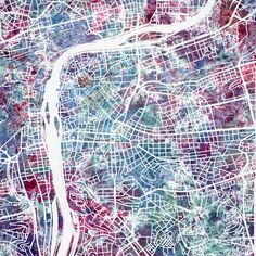 """""""Prague map"""" Painting by Map Map Maps posters, art prints, canvas prints, greeting cards or gallery prints. Find more Painting art prints and posters in the ARTFLAKES shop. Prague Map, Prague City, Map Wall Art, Map Art, Map Painting, Art Prints Online, Abstract City, City Maps, Buy Posters"""