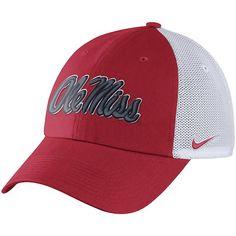 online store 55078 ca703 Men s Nike Red Ole Miss Rebels Heritage 86 Trucker Adjustable Hat