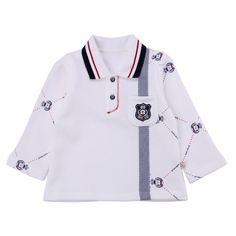 Детские рубашки из Китая :: Медведь Кара, которую дети мальчики пуловеры новых подпружиненные медведь джентльмен лацкане рубашки с длинным рукавом 631.