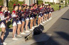 Tustin High School Cheerleaders at Dinosaur Dash!