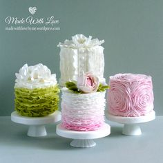 A place for people who love cake decorating. Mini Wedding Cakes, Pretty Wedding Cakes, Pretty Cakes, Fancy Cakes, Cute Cakes, Mini Cakes, Mini Birthday Cakes, Gorgeous Cakes, Amazing Cakes