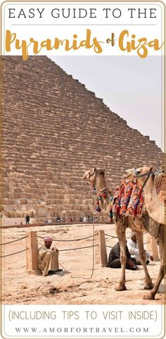 Dreaming of visiting the Pyramids of Giza? A truly amazing experience of a lifetime. Check out this article to see how we traveled there including taking our young kids with us. We offer tips and suggestions including where we stayed, entering inside the largest pyramid and our perspective on safety during our visit there. Travel to Egypt and visit Cairo to see the Pyramids of Giza. Family Travel, Travel with Kids, World Travel #egypttravel #visitegypt #pyramidsofgiza #familytrip #traveltips