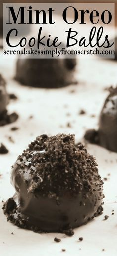 Easy to make Mint Oreo Cookie Balls! A fun Christmas treat! serenabakessimplyfromscratch.com