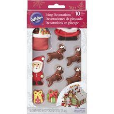 Santa and Reindeer Gingerbread House Decorating Kit