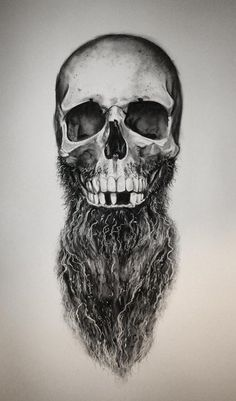 Daniel A Bavell sketch bearded skull beard beards men man tattoo idea tattoos…
