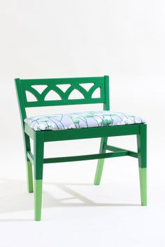 Refurbished Vintage Green Chair Stool by JessicaAllynDesigns, $190.00