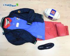 Giacca #Ciesse Sailor Polo #ItalianRugbyStyle Pantalone #Velk Chino Scarpe #Superga Cotu Classic Palla rugby #Errea  #angolooutfit by Consuelo Albanesi