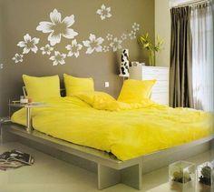 diy beautiful bed room wall deor pattern
