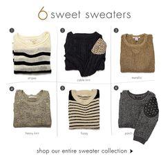 Sweater season. I NEED THESE