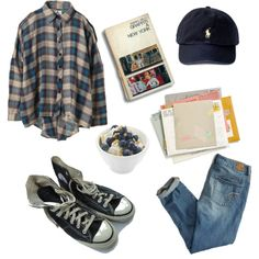 A fashion look from December 2015 featuring multicolor shirt, grey tank and blue denim jeans. Browse and shop related looks. Hipster Outfits, Indie Outfits, Grunge Outfits, Cute Casual Outfits, Fall Outfits, Fashion Outfits, Grunge Clothes, Punk Fashion, Grunge Fashion