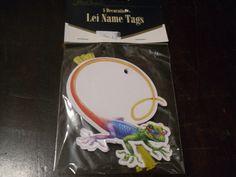 Lei Name Tags PARTY Luau HAWAIIAN Cake LIZARD Tropical T-4 FREE SHIPPING   eBay