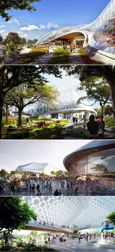 North Bayshore Google Campus proposal by BIG Architecture and Thomas Heatherwick. Thomas Heatherwick, Architect House, Photorealism, Uni, Modern Architecture, Proposal, Google, Architects, Buildings
