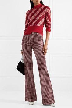 18db64f1ea95 Miu Miu - Checked mohair-blend sweater