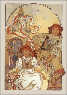 Mucha Czech female paintings | All the Czechs love Mucha!